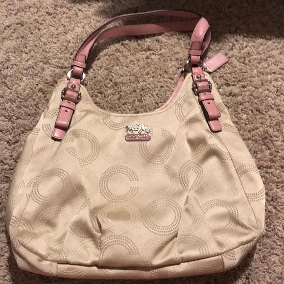 Coach Handbags - Coach tan and pink bag